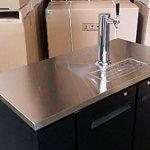 48-Single-Tap-Keg-Beer-Can-Bottle-Dispenser-Refrigerator-Stainless-Steel-Top-UDD-24-48-Kegerator-Fridge-0-1