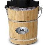 6-Quart-Brown-Old-Fashioned-Pine-Bucket-ElectricManual-Ice-Cream-Maker-0