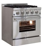 AGA-APRO30DFSS-30-Professional-Dual-Fuel-Range-with-RapidBake-Convection-Stainless-Steel-0-0