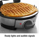 All-Clad-99012GT-Stainless-Steel-Classic-Round-Waffle-Maker-with-7-Browning-Settings-4-Section-Silver-0-1