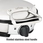 All-Clad-99012GT-Stainless-Steel-Classic-Round-Waffle-Maker-with-7-Browning-Settings-4-Section-Silver-0-2