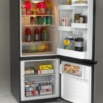 Avanti-FFBM102D3S-Bottom-Mount-Frost-Free-FreezerRefrigerator-Black-with-Stainless-Steel-Doors-0