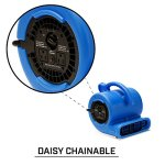 B-Air-VP-25Compact-Lightweight-Air-Mover-Carpet-Drying-Fan-14-HP-Low-Amp-Stackable-Dryer-Carpet-Air-Movers-Max-Air-Fan-Carpet-Blower-for-Hard-to-Reach-Places-0-2