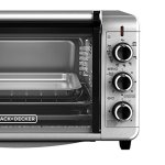 BLACKDECKER-TO3210SSD-6-Slice-Convection-Countertop-Toaster-Oven-Includes-Bake-Pan-Broil-Rack-Toasting-Rack-Stainless-SteelBlack-Convection-Toaster-Oven-0-1