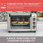 BLACKDECKER-TO3210SSD-6-Slice-Convection-Countertop-Toaster-Oven-Includes-Bake-Pan-Broil-Rack-Toasting-Rack-Stainless-SteelBlack-Convection-Toaster-Oven-0-2