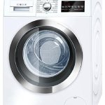 Bosch-800-Series-White-Front-Load-Compact-Laundry-Pair-with-WAT28402UC-24-Washer-WTG86402UC-24-Electric-Condensation-Dryer-and-2-WMZ20490-Pedestals-0-0