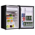 Costway-43-cu-ft-Compact-Mini-Door-Mini-Refrigerator-Freezer-Cooler-Stainless-SteelBlack-0-0