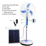 Cowin-Solar-Fan-System-Solar-Energy-Fan-16-Blade-LED-Light-15W-Solar-Panel-USB-Port-Comes-with-Outlet-Converter-0-0
