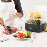Dash-DIS001GY-Instant-Food-Steamer-Gray-0-1