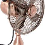 DecoBREEZE-10-Inch-Vintage-Metal-Table-Fan-Portable-Oscillating-Fan-Brushed-Copper-0