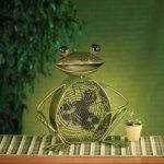 DecoBREEZE-Green-Frog-Figurine-Fan-Two-Speed-Electric-Circulating-Fan-0-0