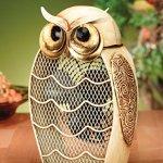 DecoBREEZE-Snowy-Owl-Figurine-Fan-Two-Speed-Electric-Circulating-Fan-0