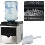 Della-Stainless-Steel-Water-Dispenser-w-Built-In-Ice-Maker-Machine-Counter-Portable-40-Pound-0