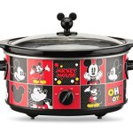 Disney-DCM-502-Mickey-Mouse-5-quart-Oval-Slow-Cooker-with-20-oz-Dipper-RedBlack-0-0