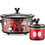 Disney-DCM-502-Mickey-Mouse-5-quart-Oval-Slow-Cooker-with-20-oz-Dipper-RedBlack-0