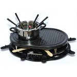 Electric-Griddle-Fondue-Pot-with-Thermostat-Control-Non-Stick-Raclette-Skillet-8-Person-Swiss-Indoor-Outdoor-Grill-Set-0