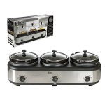 Elite-Platinum-EWMST-325-Maxi-Matic-Triple-Slow-Cooker-Buffet-with-Lid-Rests-BlackSilver-0-2