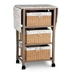 French-Script-Pattern-Ironing-Board-Center-Iron-Station-Laundry-With-Storage-Baskets-0-0