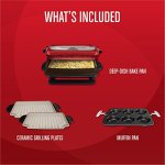 George-Foreman-GRP4842MB-Multi-Plate-Evolve-Grill-Ceramic-Grilling-Plates-and-Waffle-Plates-Included-Black-0-0