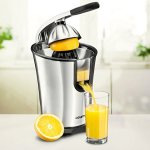 Gourmia-EPJ100-Electric-Citrus-Juicer-Stainless-Steel-10-QT-160-Watts-Rubber-Handle-And-Cone-Lid-For-Easy-Use-One-Size-Fits-All-Juice-Cone-For-Easy-Storage-110V-0-2