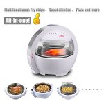 Hometech-Patented-1200W-13L-Spaceship-Air-Fryer-Deep-Fryer-Healthy-No-Fat-Oil-Free-6-One-touch-Cooking-Options-Far-Infrared-3D-Heating-Technology-for-Kitchen-Cooker-White-0-0