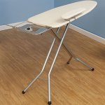 Household-Essentials-971840-1-Wide-Top-4-Leg-Mega-Ironing-Board-with-Adjustable-Height-and-Bonus-Sleeve-Board-Natural-Cotton-Cover-0-2