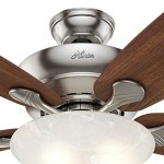 Hunter-Fan-60-Ceiling-Fan-in-Brushed-Nickel-with-Swirled-Marble-Glass-Light-Kit-5-Blade-Certified-Refurbished-0-1