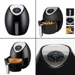 Ivation-Electric-Air-Fryer-with-Digital-LED-Touch-Display-Featuring-7-Cooking-Presets-Menu-Timer-and-Temperature-Control-for-Healthy-Low-Fat-Air-Frying-with-Little-to-No-Oil-34-QT-1400W–Black-0-2