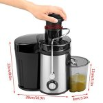 Juicer-Juice-Extractor-High-Speed-for-Fruit-and-Vegetables-Dual-Speed-Setting-Centrifugal-Fruit-Machine-Powerful-350-Watt-with-Juice-Jug-Premium-Food-Grade-Stainless-Steel-0-1