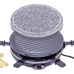 King-of-Raclette-2-IN-1-ROUND-Party-BBQ-Grill-with-Temperature-Control-Safety-Indicator-Electric-Nonstick-BBQ-Indoor-Grill-Outdoor-Grills-for-up-to-6-People-0
