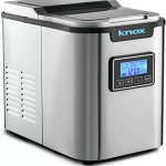 Knox-Gear-Stainless-Steel-Compact-Countertop-Automatic-Ice-Maker-Makes-27-Pounds-Daily-3-Different-Cube-Sizes-0