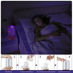 Lemonda-Night-light-Ultrasonic-Essential-Oil-DiffuserEssential-Oil-Ultrasonic-Cool-Mist-Humidifier-with-3D-16-Color-Changing-Starburst-LED-Lights-0-0