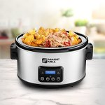 Magic-Mill-85-Quart-Slow-Cooker-Digital-Programmable-Crock-Pot-20-hour-Timer-3-Cooking-Settings-Locking-Lid-for-Easy-Transport-Dishwasher-Safe-0-0