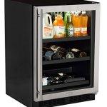 Marvel-24-Beverage-Center-with-3-in-1-split-converter-shelves-and-wine-storage-stainless-steel-frame-glass-door-0