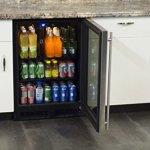 Marvel-ML24BCG0LS-Beverage-Center-Stainless-Frame-Glass-Door-Left-Hinge-24-Inch-Stainless-Steel-0-0