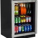 Marvel-ML24BCG0LS-Beverage-Center-Stainless-Frame-Glass-Door-Left-Hinge-24-Inch-Stainless-Steel-0