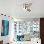 Mazon-44-in-Brush-Nickel-Flush-Mount-Indoor-Ceiling-Fan-with-LED-Light-Kit-with-Remote-3-Blade-0-1
