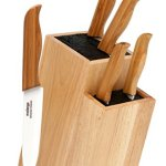 Melange-6-Piece-Bamboo-Handle-and-White-Blade-Ceramic-Knife-Set-with-2-Tier-Wood-Universal-Knife-Block-0