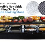 Milliard-Raclette-Grill-for-Eight-People-Includes-Granite-Cooking-Stone-Reversible-Non-Stick-Grilling-Surface-and-8-Paddles-Great-for-a-Family-Get-Together-or-Party-0