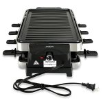 NutriChef-Raclette-Grill-Raclette-Cheese-8-Person-Two-Tier-Party-Cooktop-Metal-Grill-Surface-Countertop-Safe-1000-Watt-8-Paddles-Great-for-a-Family-Get-Together-or-Party-PKGRST42-0-0
