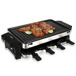 NutriChef-Raclette-Grill-Raclette-Cheese-8-Person-Two-Tier-Party-Cooktop-Metal-Grill-Surface-Countertop-Safe-1000-Watt-8-Paddles-Great-for-a-Family-Get-Together-or-Party-PKGRST42-0
