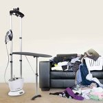 PurSteam-Dual-Pro-Iron-Pressurized-Garment-Steamer-with-Professional-Heavy-Duty-1600-Watt-Power-with-1-Liter-Water-Tank-Built-in-Ironing-Board-and-Deluxe-Garment-Hanger-with-Hands-Free-Foot-Pedal-0-1
