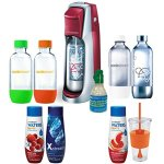 SodaStream-Fountain-Jet-Soda-Maker-Exclusive-Kit-Includes-4-Bottles-Mini-CO2-24oz-To-Go-Cup-2-Waters-Zeros-Drink-Mixes-with-Zero-Calories-Pink-Grapefruit-and-Berry-Plus-Xstream-Energy-Drink-Mix-0