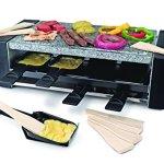 Swissmar-KF-77087-Locarno-8-Person-Pizza-Raclette-Party-Grill-with-Granite-Stone-Top-Black-0-0