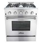 Thor-Kitchen-2-Piece-Kitchen-Package-with-30-Pro-Style-4-Burner-Stainless-Steel-Gas-Range-and-30-Under-Cabinet-Range-Hood-Stainless-Steel-0-0