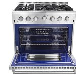 Thor-Kitchen-36-Freestanding-Professional-Style-Gas-Range-with-52-Cu-Ft-Oven-6-Burners-Convection-Fan-Cast-Iron-Grates-Blue-Porcelain-Oven-Interior-In-Stainless-Steel-0-0