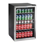 Tramontina-126-Can-Capacity-Stainless-Steel-Trim-Wine-Soda-Beverage-Center-Glass-Door-Refrigerator-0