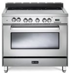 Verona-VEFSEE365SS-36-Electric-Range-with-4-cu-ft-European-Convection-Oven-Black-Ceramic-Glass-Cooktop-5-Burners-Dual-Center-Element-Chrome-Knobs-and-Handle-Stainless-Steel-0