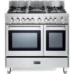 Verona-VEFSGG365NDSS-36-Pro-Style-Gas-Range-with-5-Sealed-Burners-2-Turbo-Electric-Convection-Ovens-Manual-Clean-Infrared-Broiler-Bell-Timer-and-Storage-Drawer-in-Stainless-0