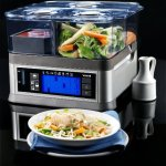 Viante-CUC-30ST-Intellisteam-Counter-Top-Food-Steamer-with-3-Separate-Compartments-0-0